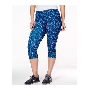 Nike Plus Size Printed Capri Leggings Deep Blue